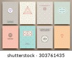 graphic design templates for... | Shutterstock .eps vector #303761435