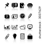 miscellaneous office icons | Shutterstock .eps vector #3037629