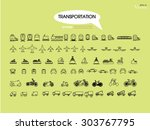 transport icons.transportation .... | Shutterstock .eps vector #303767795