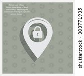 privacy lock icon  icon map pin. | Shutterstock .eps vector #303771935