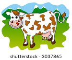 cow on a meadow | Shutterstock . vector #3037865