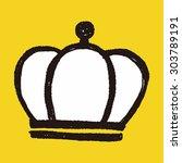 doodle king crown | Shutterstock .eps vector #303789191