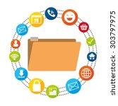 social media design  vector...   Shutterstock .eps vector #303797975