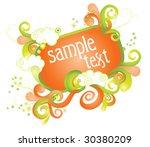 beautiful frame for design | Shutterstock .eps vector #30380209