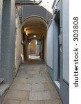 Passage Way In Soho  London Uk...