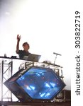 Small photo of FERROPOLIS, GERMANY - JULY 18, 2015: DJ and remixer FLUME, the leading light of the Australian electronic music scene, on stage at MELT Festival on July 18, 2015 in Ferropolis.
