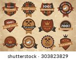 set of vintage labels and... | Shutterstock . vector #303823829