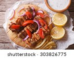 Greek Souvlaki With Pita Bread...