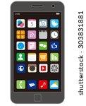 smart phone vector | Shutterstock .eps vector #303831881