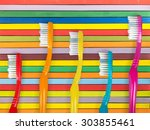toothbrush. | Shutterstock . vector #303855461