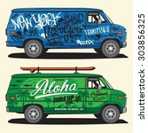 Van Graffiti And Surf...