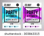party flyer design. disco... | Shutterstock .eps vector #303863315