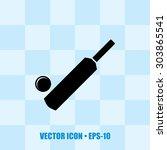 icon of cricket bat   ball | Shutterstock .eps vector #303865541