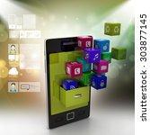 application icon concept | Shutterstock . vector #303877145