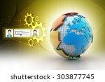 globe around with arrow | Shutterstock . vector #303877745