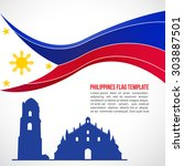Abstract Philippines Flag Wave...