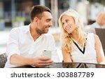 love  date  technology  people... | Shutterstock . vector #303887789