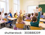 education  elementary school ... | Shutterstock . vector #303888209