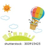balloon family | Shutterstock .eps vector #303915425