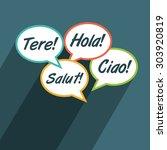 multilingual environment symbol.... | Shutterstock .eps vector #303920819