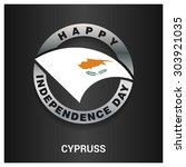 happy cyprus independence day... | Shutterstock .eps vector #303921035
