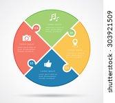 circular infographic template... | Shutterstock .eps vector #303921509