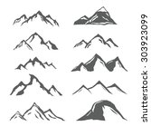 set of different monochrome... | Shutterstock .eps vector #303923099