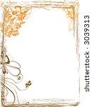 frame with vector flowers... | Shutterstock .eps vector #3039313