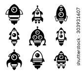 rocket icon set   Shutterstock .eps vector #303931607