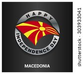 happy macedonia independence... | Shutterstock .eps vector #303933041