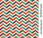 geometric seamless pattern with ... | Shutterstock .eps vector #303934169