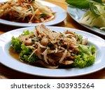 spicy pork salad is spicy food... | Shutterstock . vector #303935264