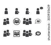 people icon set | Shutterstock .eps vector #303935639