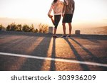 cropped shot of man and woman...   Shutterstock . vector #303936209