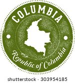 columbia south america country... | Shutterstock .eps vector #303954185