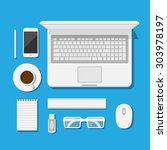 set of icons of modern business ... | Shutterstock . vector #303978197