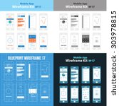 mobile app wireframe ui kit 17...