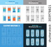 mobile app wireframe ui kit 13...