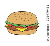 hamburger burger cheeseburger...