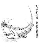 musical notes stuff vector... | Shutterstock .eps vector #30399169