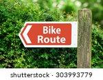 direction arrow  sign to bike... | Shutterstock . vector #303993779