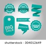 big sale honors set | Shutterstock .eps vector #304012649