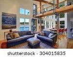 modernized living room of... | Shutterstock . vector #304015835