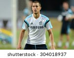 Small photo of BANGKOK THAILAND MAY 29: Eden Hazard of Chelsea in action during the pre-match training session at Rajamangala Stadium on May 29,2015 in Thailand.