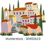 italian house | Shutterstock .eps vector #30402613