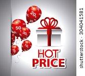 shopping digital design  vector ... | Shutterstock .eps vector #304041581