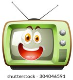 Retro Television With Face...