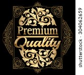 premium quality gold emblem | Shutterstock .eps vector #304062659