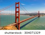 golden gate bridge in san...   Shutterstock . vector #304071329