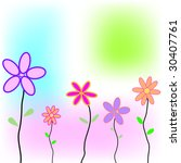 greeting card with flowers and... | Shutterstock . vector #30407761